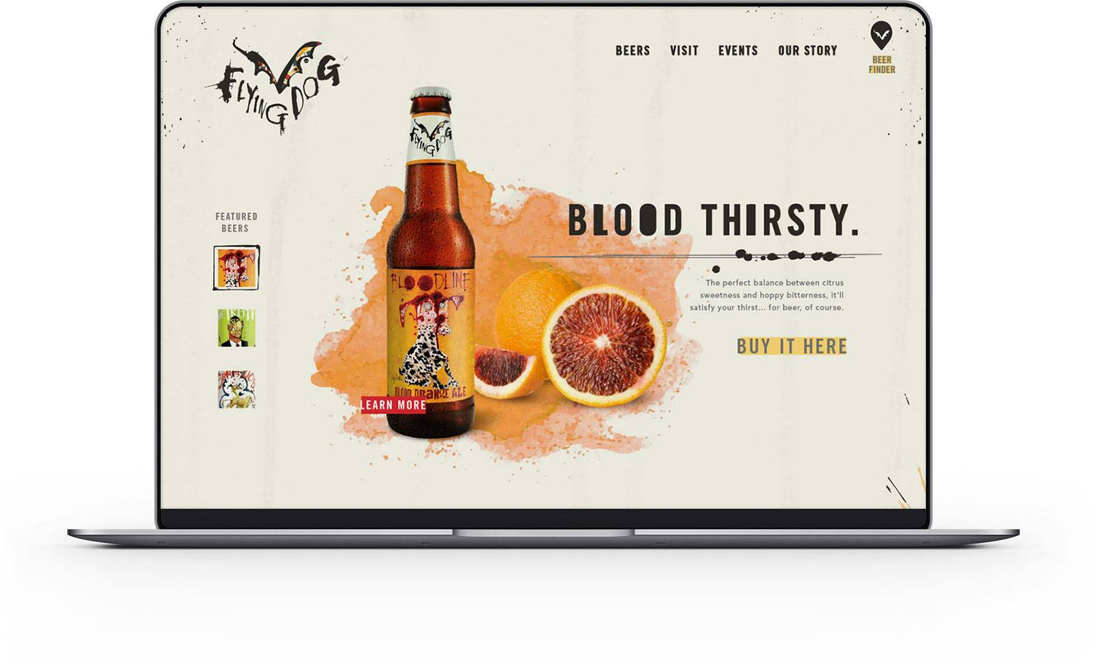 Flying Dog Brewery's New Website by Snack Shop